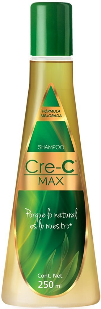 Shampoo Cre-C Max 8.46 Ounce (Pack of 1) – Official New Formulated Champu Cre-C with Ingredients Including Ginseng - Official Crece Hair Growth Stimulating Shampoo for Men and Women – Anti-Hair Loss Shampoo – For Hair Loss, Scalp Treatment and Dandruff Relief (Pack of 1)