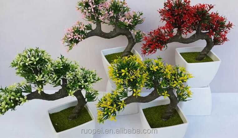 Alta calidad artificial bonsai rbol planta en maceta para for Bonsais de interior