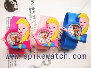 Promotion slap wrist bracelet quartz frozen watch kids, elsa watch wholesale