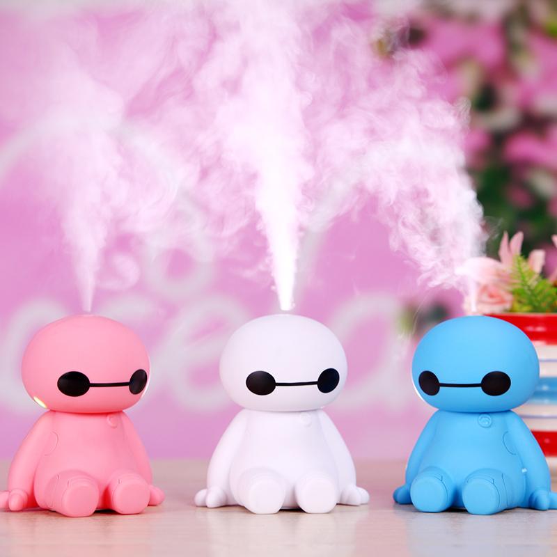 Hot sale essential oil diffuser Robot shaped mini car USB cute air humidifier