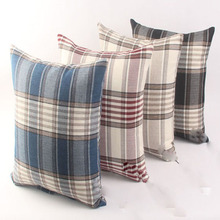 SZPLH Classic check pattern woven cushion for bedding and couch