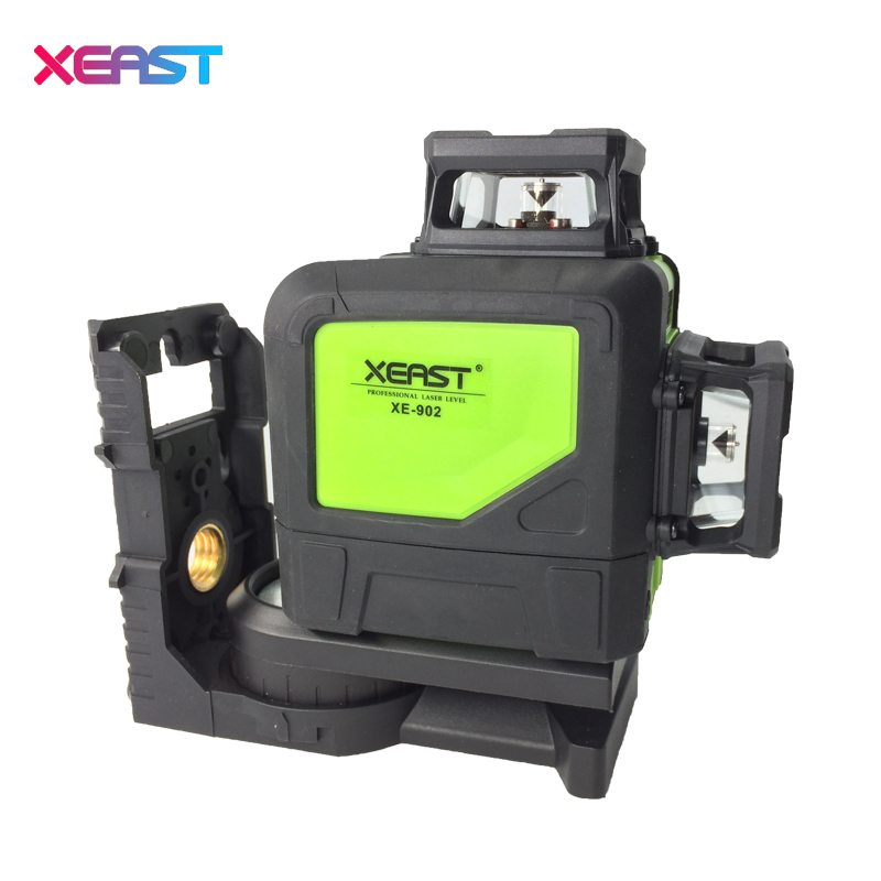 XEAST XE-902G Green Laser Level machine 360 degree 3D 8 lines laser level Waterproof Dropresistant Laser Level