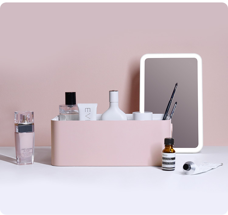 Simple Beauty Vanity Makeup Kit Box Case With Mirror