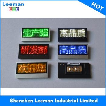Printing Name Tag Program Moving Message Outdoor Digital Message Board -  Buy Led Name Badge,Electron Name Tag Metal Pin Badge,Name Badge Maker  Product