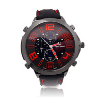 New Big Dial Vogue V6 Rubber Band Marks Hour Mark Steel Analog Mens Military Casual Watches