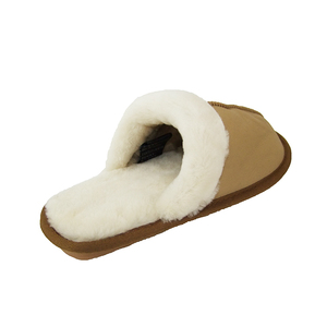 Leather Moccasin Indoor Sheepskin Slippers Wholesale