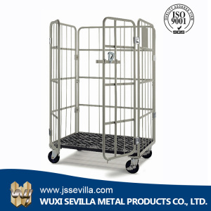 Metal transport push cart roll logistic cargo warehouse storage trolley