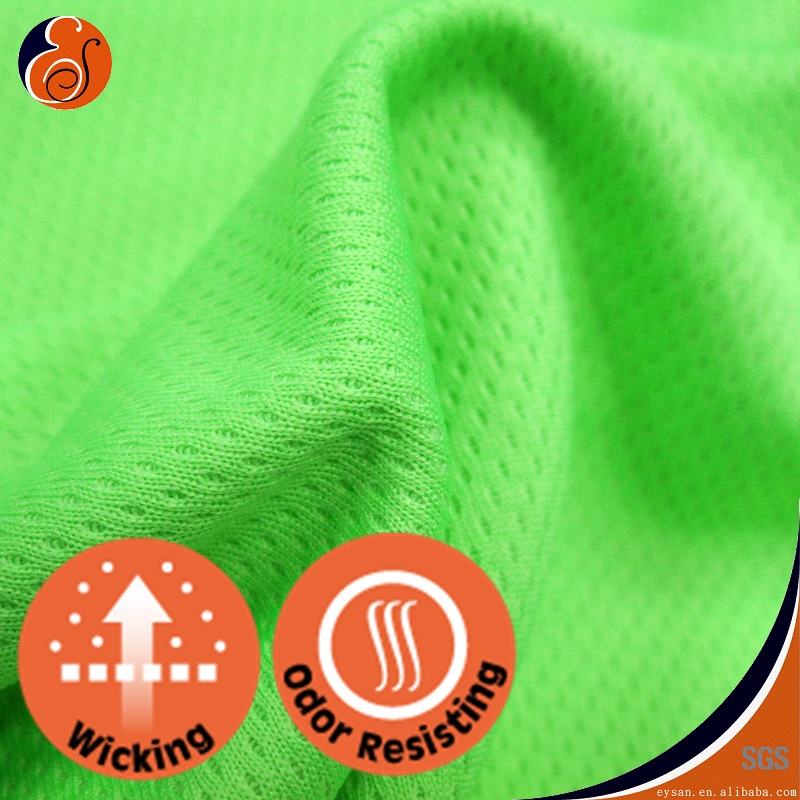 EYSAN Bird Eye Odor Absorbing 100% Polyester Wicking Mesh Fabric