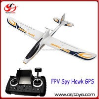 2015 FPV Spy Hawk GPS Hubsan H301S 2.4G 4CH FPV C Airplane FPV Systerm mini HD camera rc plane