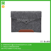 OceanDeep 2016 felt case for ipad wool pouch hot selling style