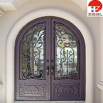 Safety Wrought Iron Door Grill Design