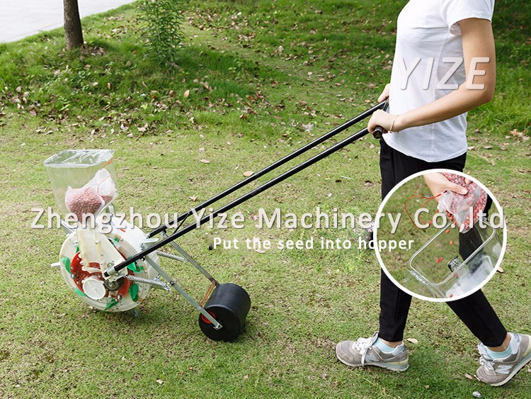 Hand push seeder , manual seed planter for peanut corn bean seed - Hand Push Seeder,Manual Seed Planter For Peanut Corn Bean Seed