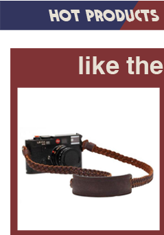 Fashional adjustable shoulder hand wrist camera strap