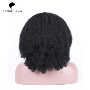 factory supply kinky curly human hair high quality jet black full lace wigs
