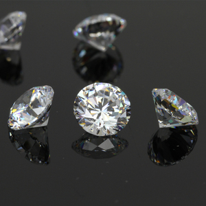 High Quality AAAAA White 3mm 6mm 8mm 10mm 12mm loose Round Cubic Zirconia CZ gemstone wholesale