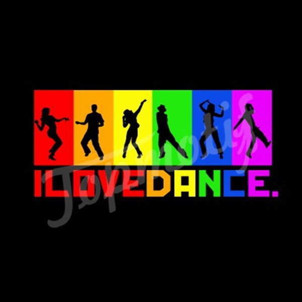 Vinyl Transfer Wholesale Custom I Love Dance Heat Transfer