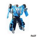 8CM Safety PVC Children DIY Transformation Robot Car Action Figures Toy Movie Original Kids Juguetes 6Style