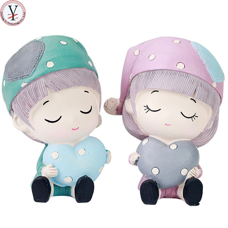 Custom wedding dolls Resin decorative wedding couple doll Wedding Souvenirs for New Couple