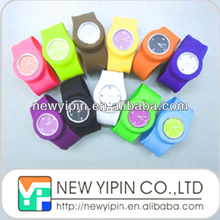 Factory directly custom silicone slap watch bracelet / wristband / rubber band for promotional gift