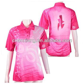 Camisa Pólo Rosa Sublimação Para Mulheres - Buy Sublimação Camisa ... 3a56d586c476d