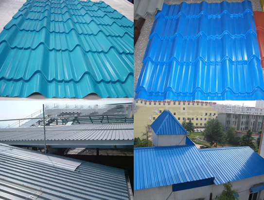 Best size color coated galvanized roofing sheet corrugated for Flexible roofing material