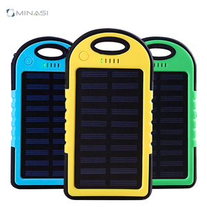 Universal 5000Mah Solar Power Bank Outdoor Waterproof Solar Energy Power Bank Consumer electronic