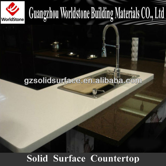 Clear White Kitchen Countertop/tabletop Materials   Pure Acrylic Solid  Surface Sheet,board