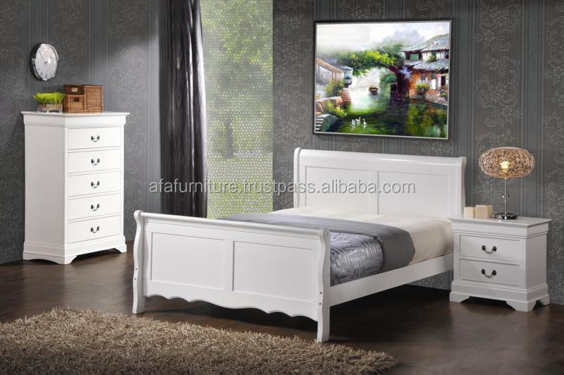 Solide en bois lit 5 pi ces ensemble de chambre coucher for Ensemble chambre adulte