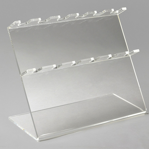 Elegant Slanted Clear Acrylic Pipettor Display, L Shaped Stand for 6 Suction Pipet