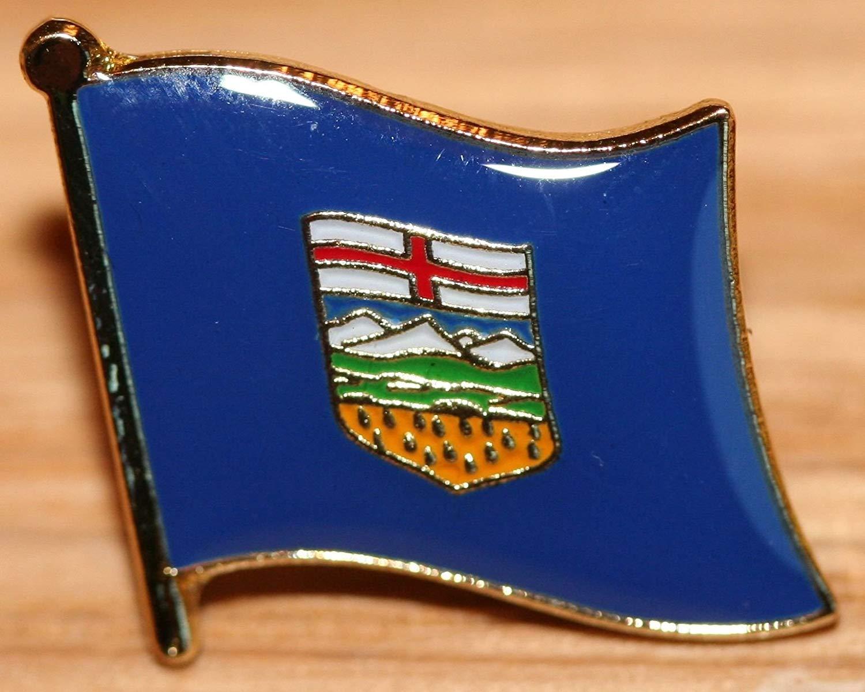 Get Quotations · Alberta Canada Flag Canadian Provinces   Territories Metal  Badge 4e067d412