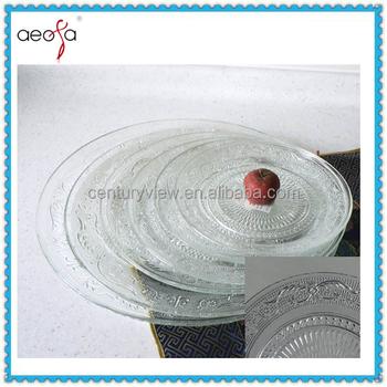 Cheap Bulk Clear Round Machine Pressed Western Style Glass Dinner Plates sets  sc 1 st  Qingdao Century View Industry Co. Ltd. - Alibaba & Cheap Bulk Clear Round Machine Pressed Western Style Glass Dinner ...