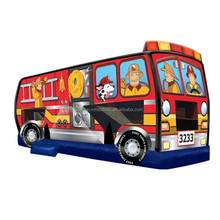 Inflatable Fire Truck, Combo Bounce House W3030