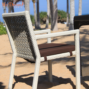 Mr Dream armrest rattan wicker outdoor dining chairs