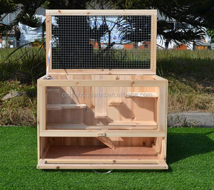 Indoor outdoor Easy Clean Wooden Rabbit Hutch Portable Wood Rabbit Cage easy clean Hamster Guinea Pig cage with perspex