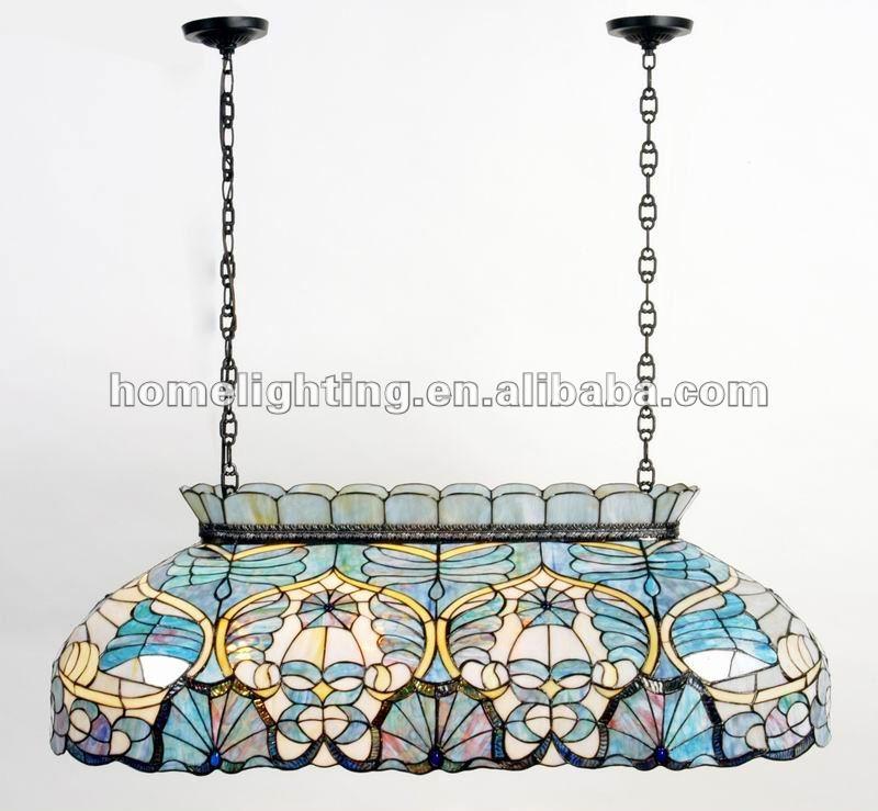 Tfc 4420 Tiffany Modern Uplight Glass Chandelier Stained Pool Lamp Celing