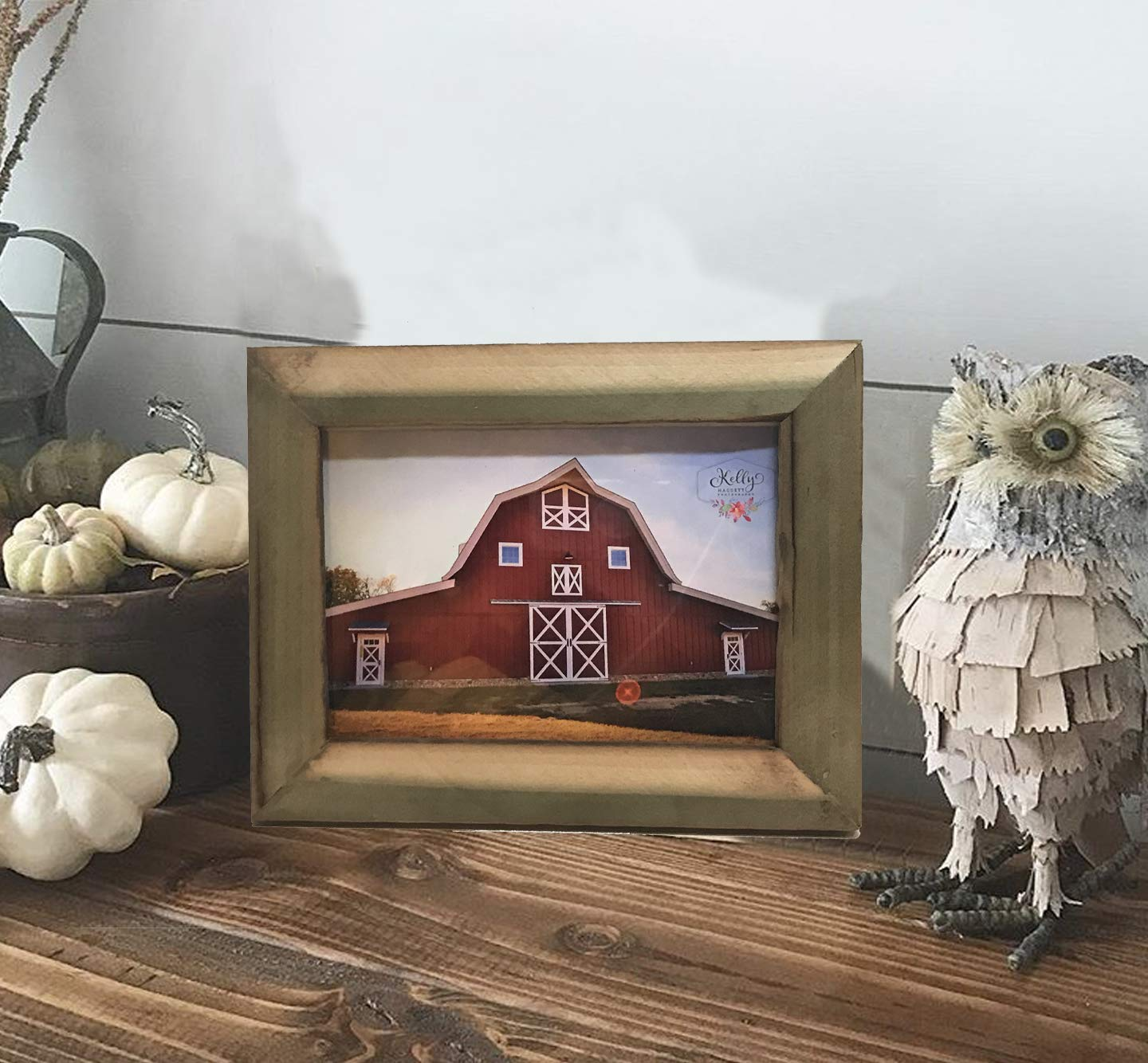 Reclaimed Poplar Wood Picture Frame. Wood Frame/Wood Picture Frame/Rustic Frame/Farmhouse Frame