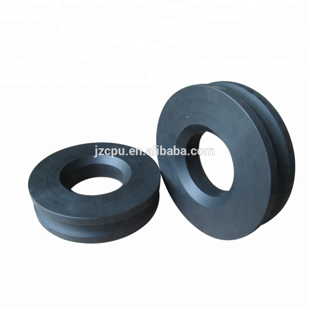 Wear resistant small nylon plastic conveyor roller pulley / bearing sheave