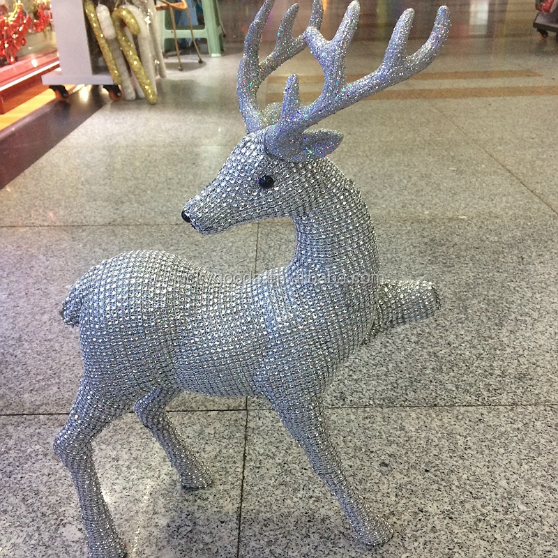 wholesale decorative white reindeer for home decoration