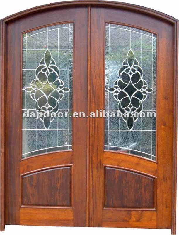 Puertas de entrada de madera maciza estilo franc s dise o for Puertas de entrada de madera maciza