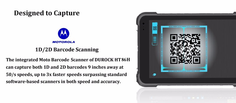 Ip67 Waterproof Windows 10 Rugged Tablet 8 Inch Nfc Reader With Barcode Scanner