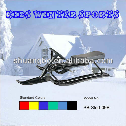 Motorless Snowmobile for Children in Winter