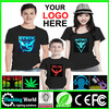 Good quality sound activated led t shirt wholesale,Equalizer LED Tshirt