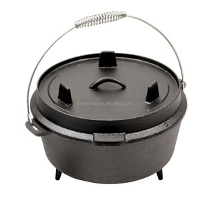 20 QT Cast Iron Outdoor Camping Dutch Oven