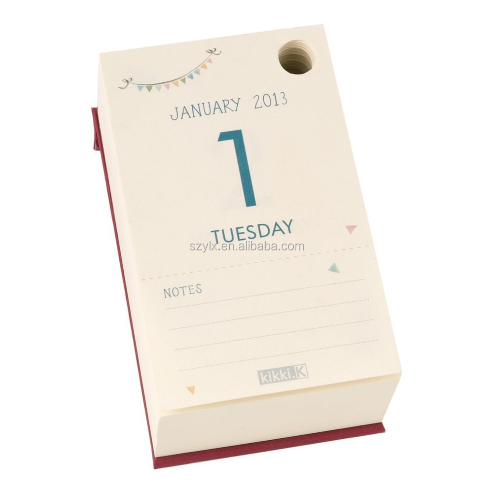 Daily Desktop Calendar Printing/tear Off Daily Calendar - Buy ...