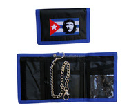 Trifold nylon chain wallet at factory price
