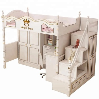 Bunk Bed Cheap Kids Furniture Bed With Wardrobe And Desk A13 - Buy