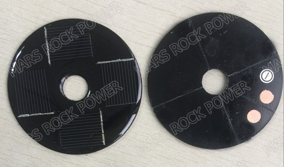 80mm Diameter 6v 50ma Round Solar Panel With 15mm Diameter
