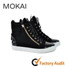 J001H-Mk31 black unisex high fashion casual shoes soft sole top quality high cut walking shoes
