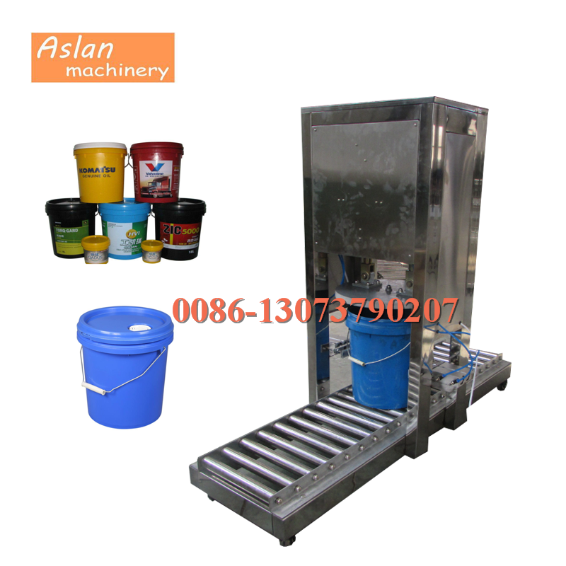 commercial plastic coating bucket lid capper/paint pails capping sealing machine/oil drum filler sealer machine