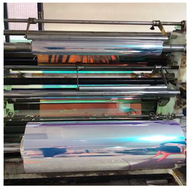 Plastic PVC Rainbow Holographic Iridescent Film For Flower Wrapping